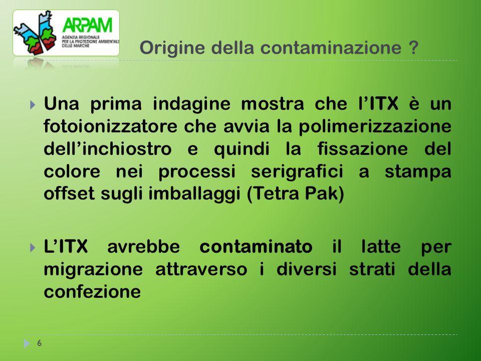 Origine della contaminazione