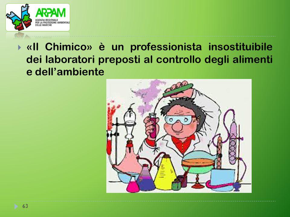 «Il Chimico» è un professionista insostituibile dei laboratori preposti al controllo degli alimenti e dell'ambiente