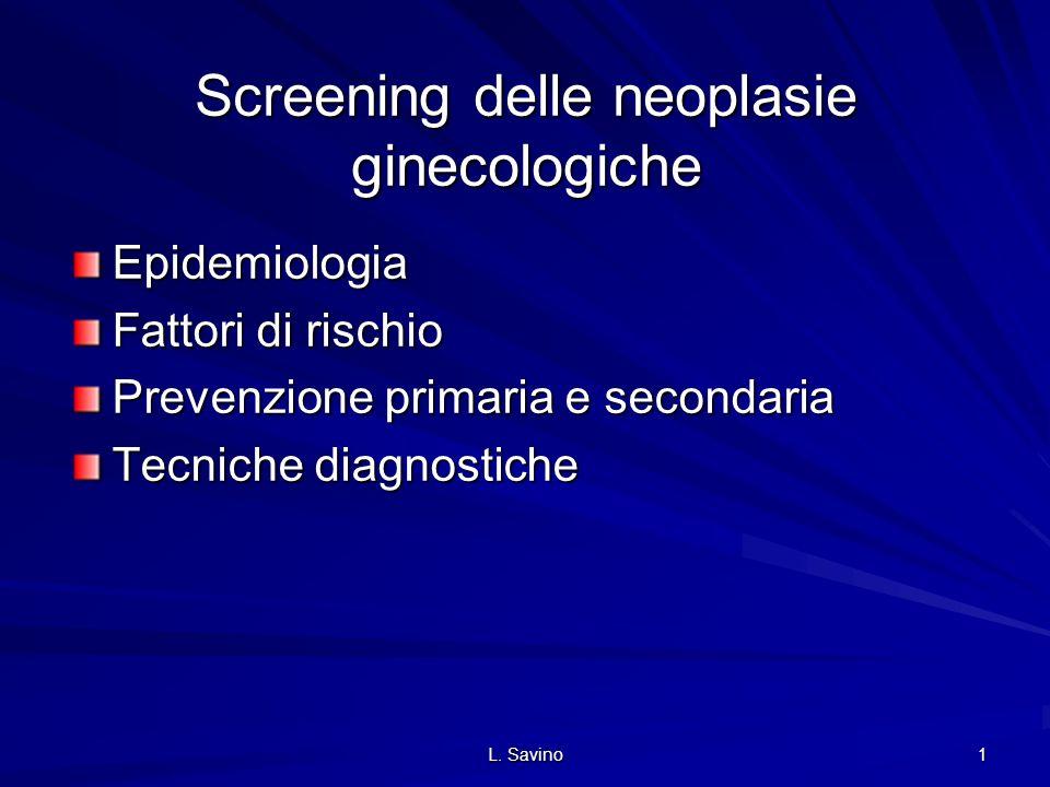 Screening delle neoplasie ginecologiche