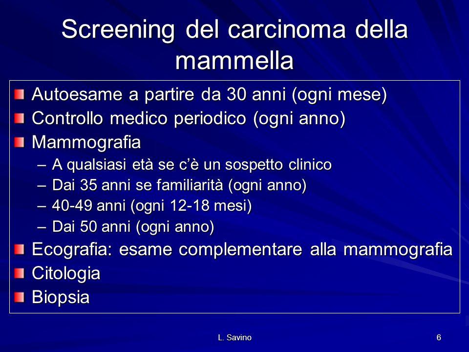 Screening del carcinoma della mammella