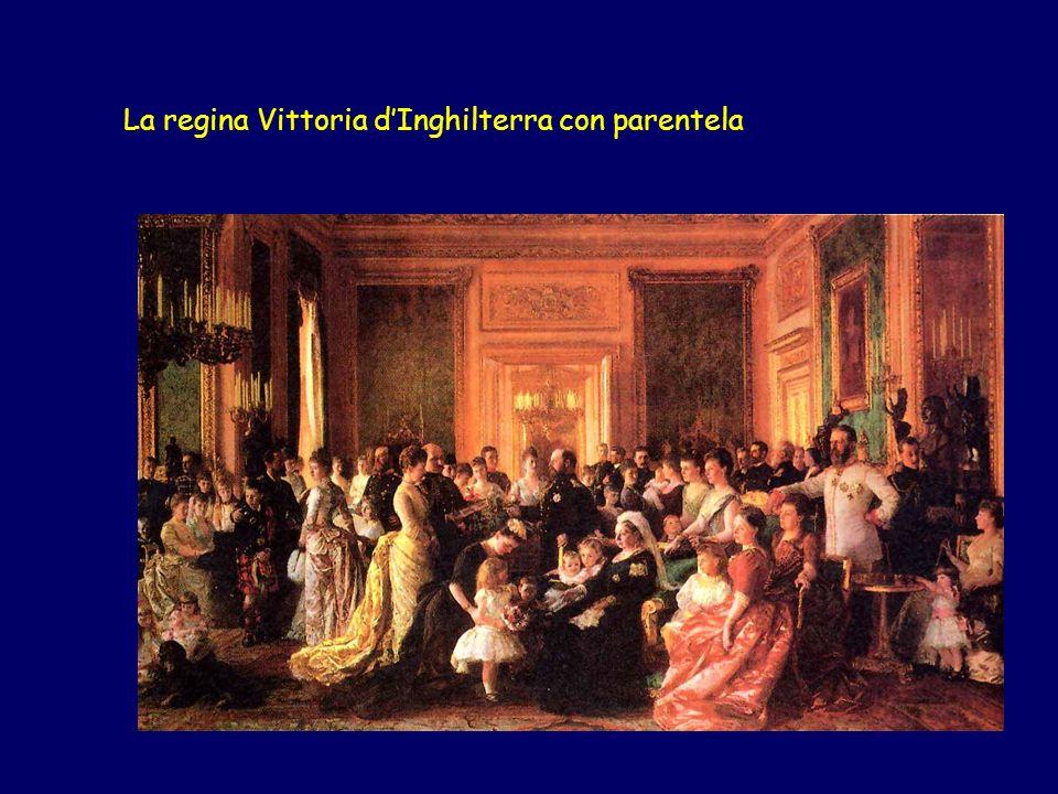 La regina Vittoria d'Inghilterra con parentela