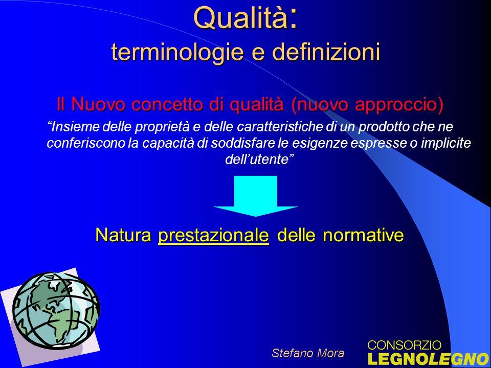 Qualità: terminologie e definizioni