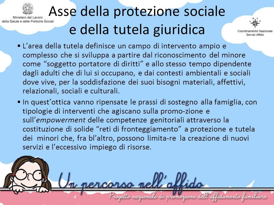 Asse della protezione sociale e della tutela giuridica