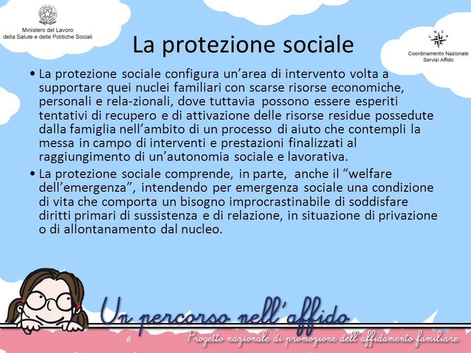 La protezione sociale