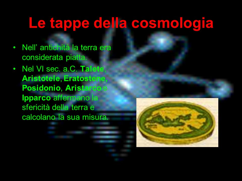 Le tappe della cosmologia
