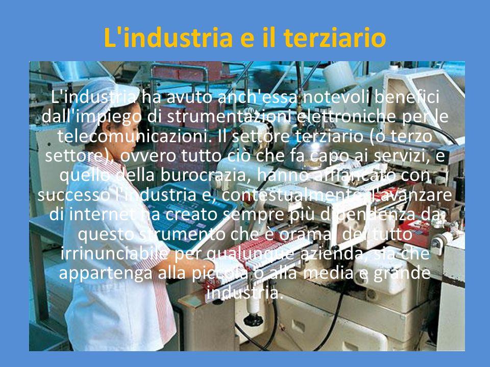 L industria e il terziario