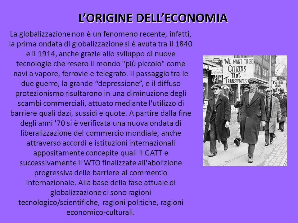 L'ORIGINE DELL'ECONOMIA