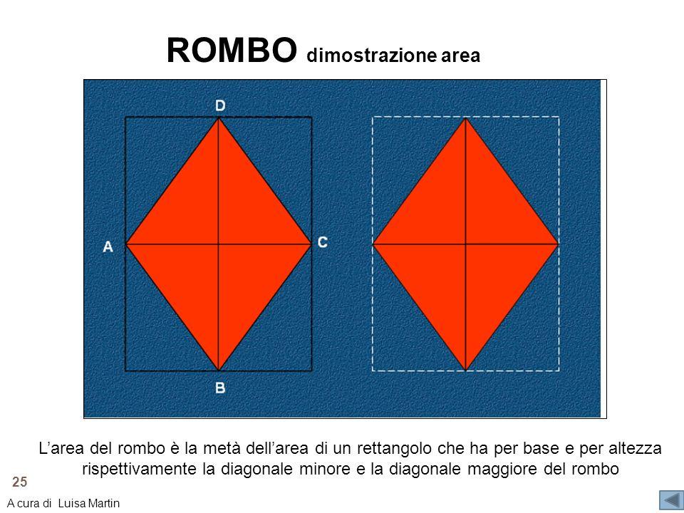 ROMBO dimostrazione area
