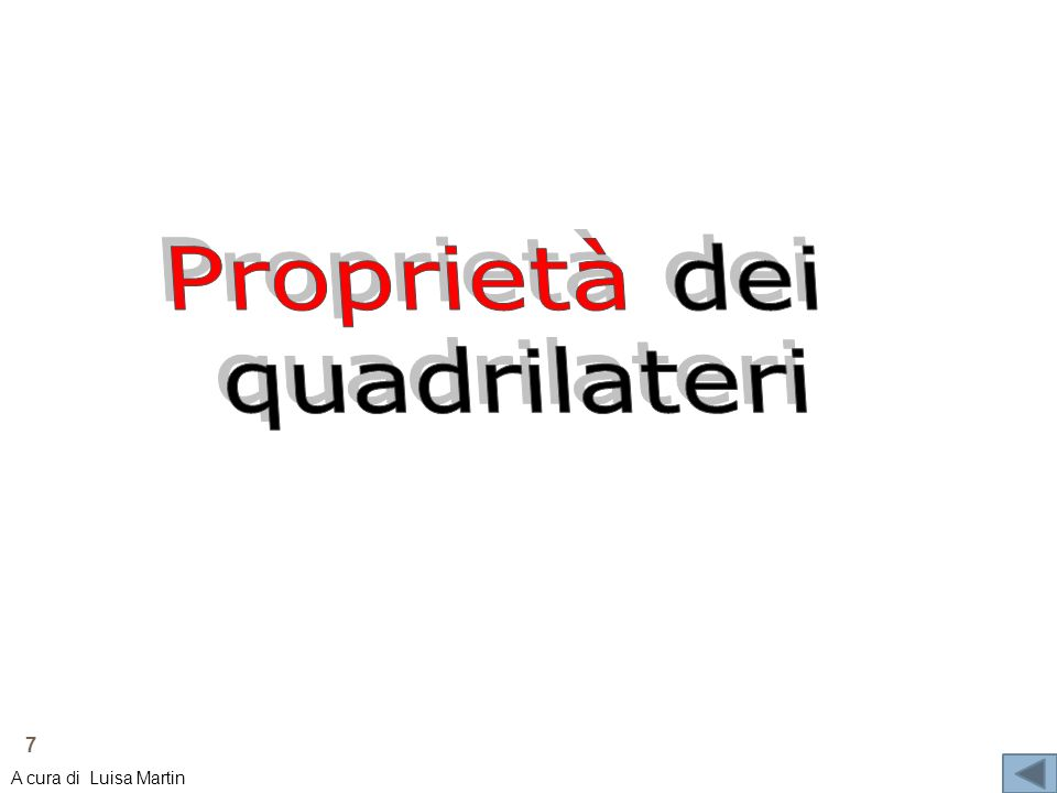 Proprietà dei quadrilateri