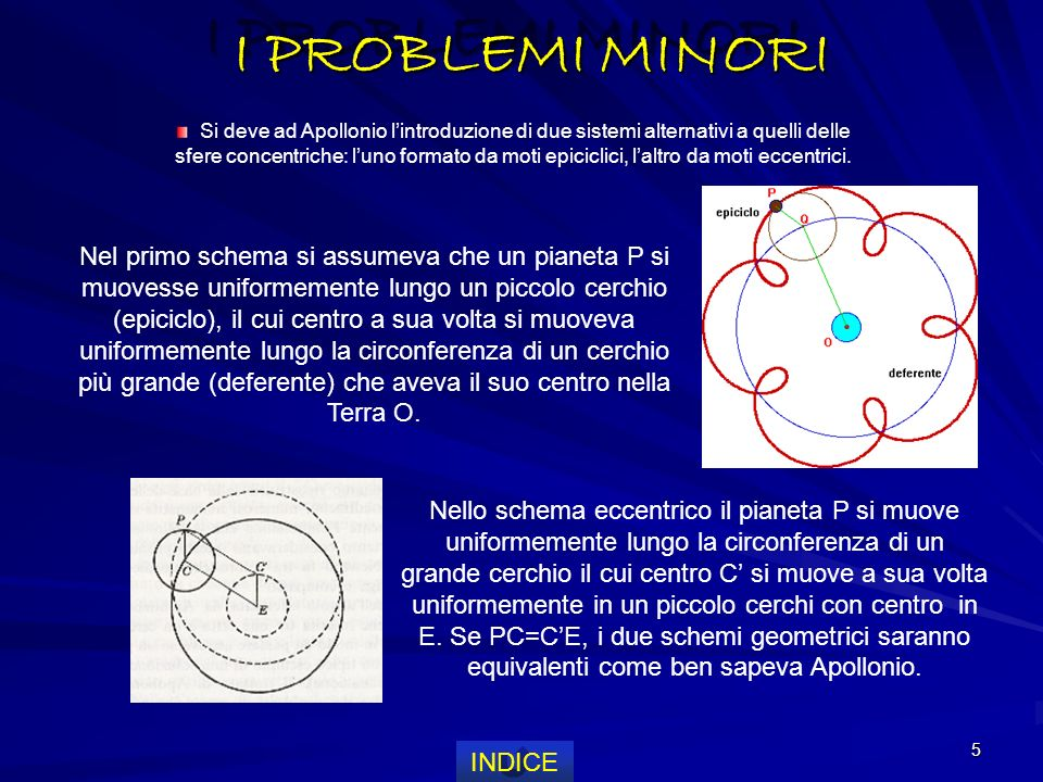 I PROBLEMI MINORI