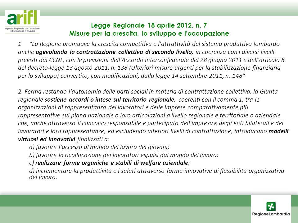 Legge Regionale 18 aprile 2012, n. 7