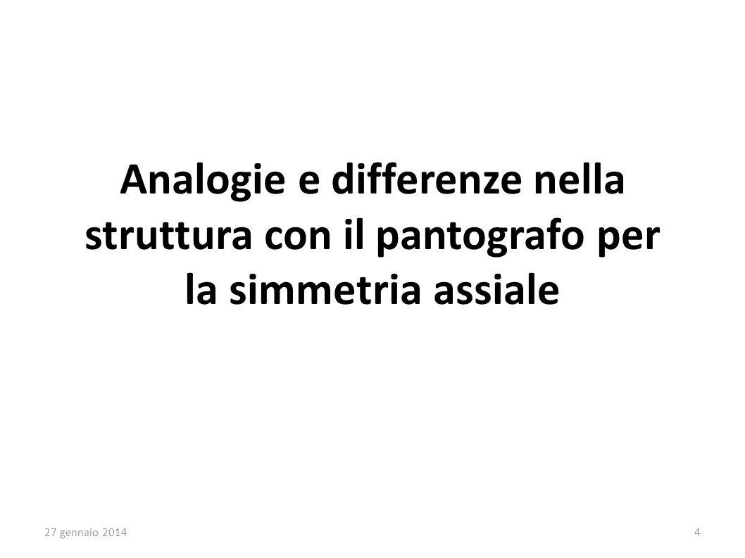 Analogie e differenze nella struttura con il pantografo per la simmetria assiale