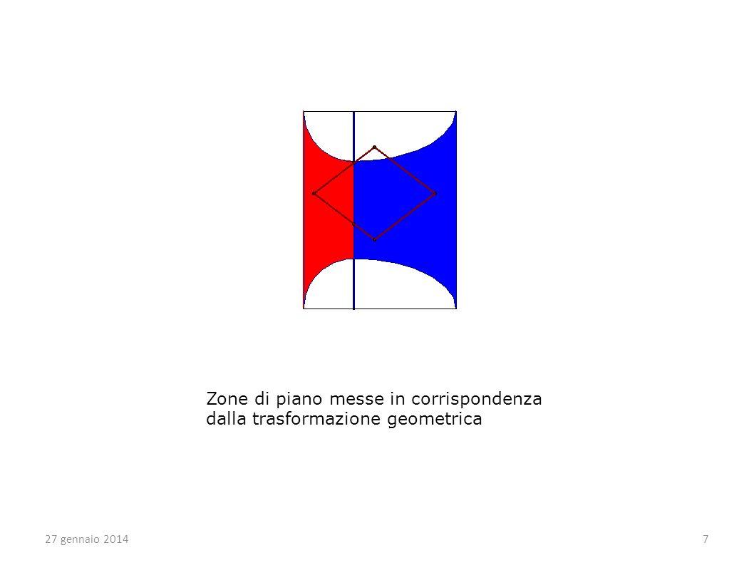 Zone di piano messe in corrispondenza dalla trasformazione geometrica