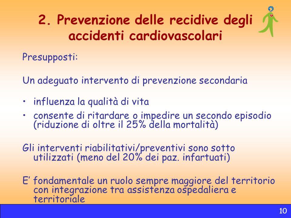 2. Prevenzione delle recidive degli accidenti cardiovascolari