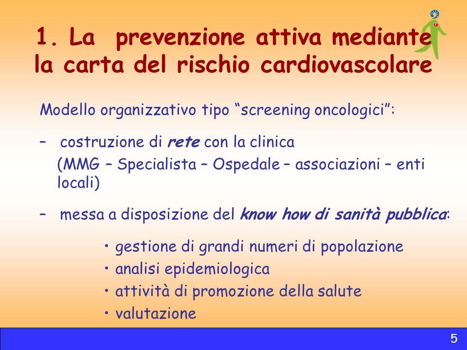 1. La prevenzione attiva mediante la carta del rischio cardiovascolare