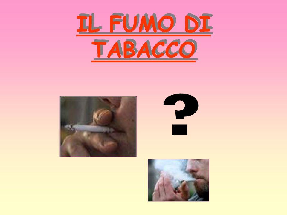 IL FUMO DI TABACCO