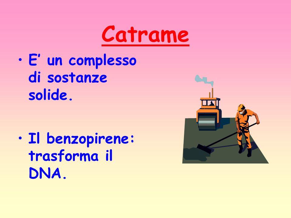 Catrame E' un complesso di sostanze solide.