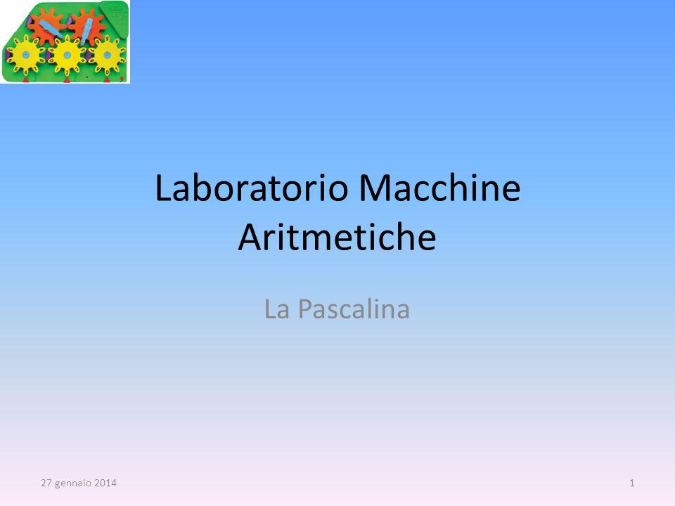 Laboratorio Macchine Aritmetiche