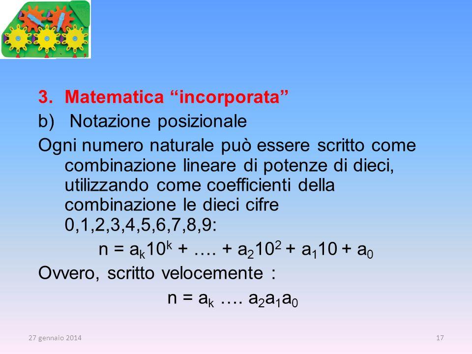 Matematica incorporata Notazione posizionale