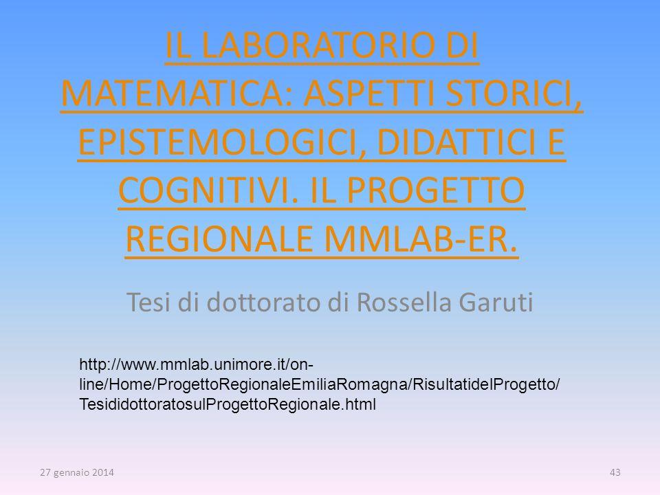 Tesi di dottorato di Rossella Garuti
