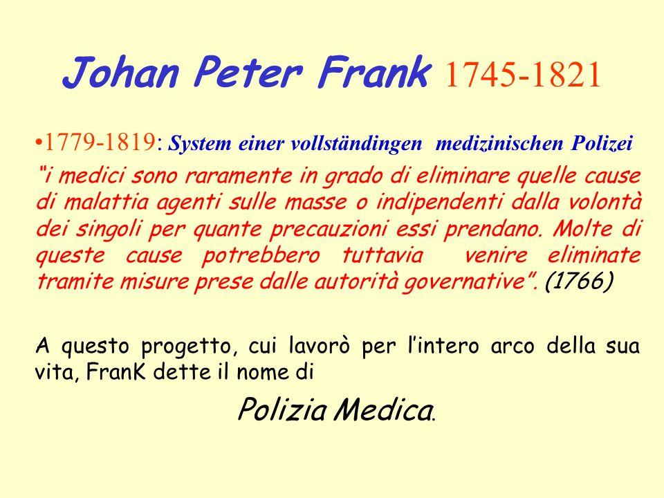 Johan Peter Frank 1745-1821 Polizia Medica.