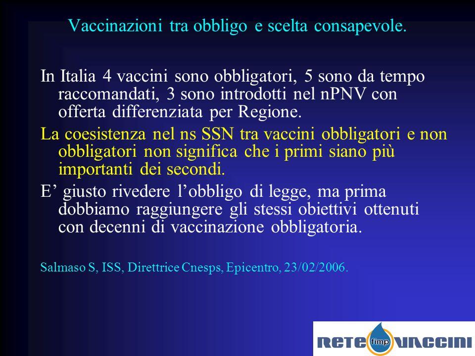 Vaccinazioni tra obbligo e scelta consapevole.