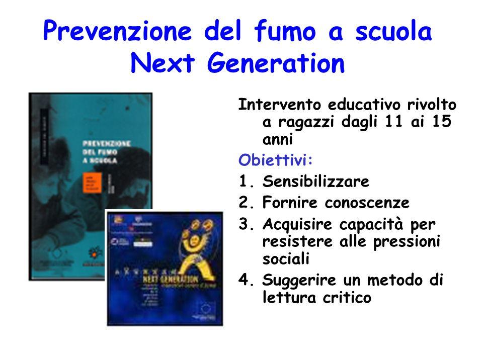 Prevenzione del fumo a scuola Next Generation