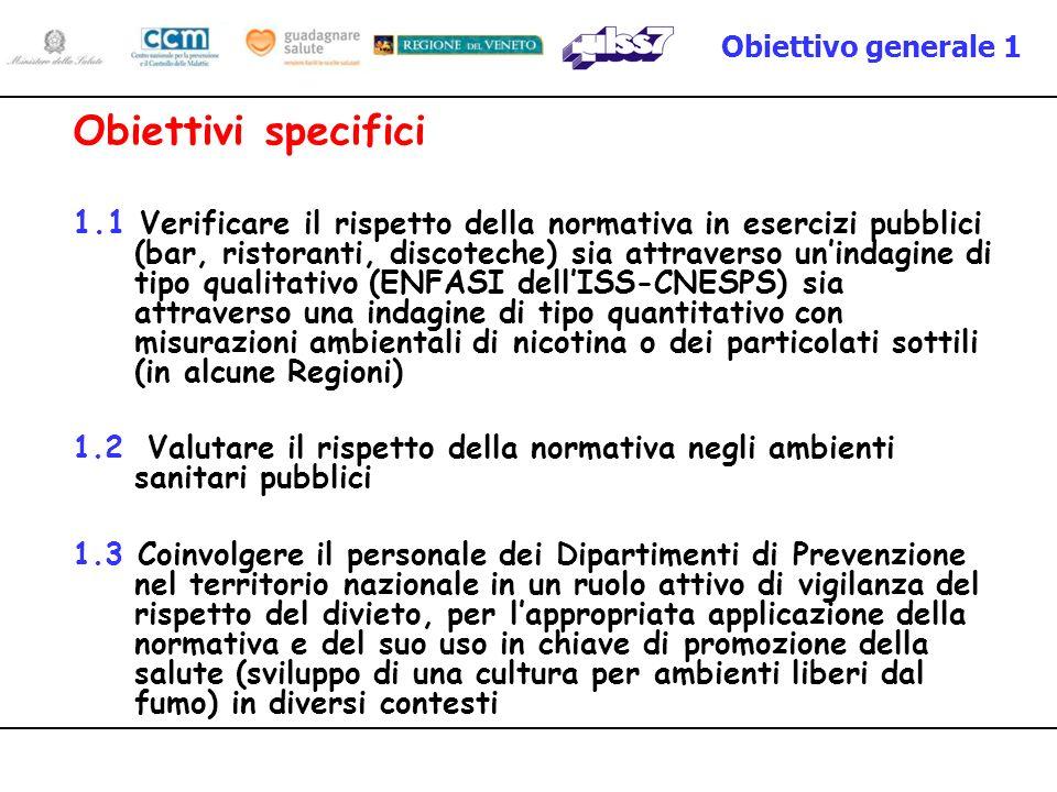 Obiettivo generale 1 Obiettivi specifici.