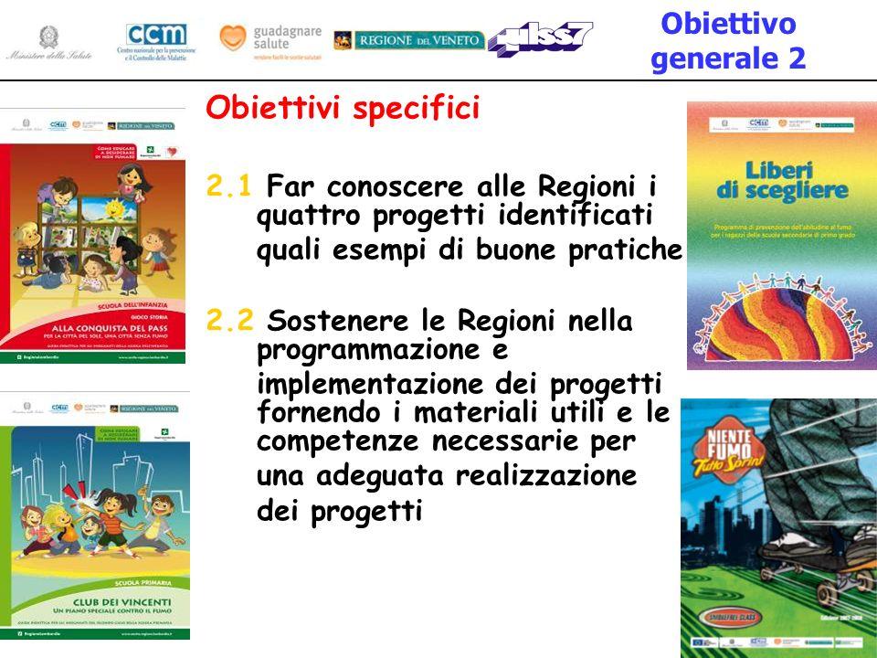 Obiettivi specifici Obiettivo generale 2