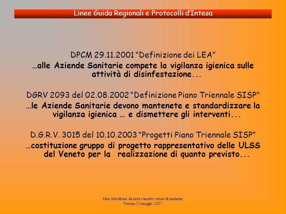 DPCM 29.11.2001 Definizione dei LEA