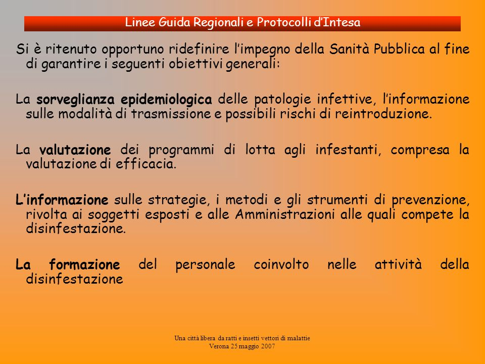 Linee Guida Regionali e Protocolli d'Intesa