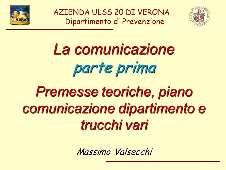 La comunicazione parte prima