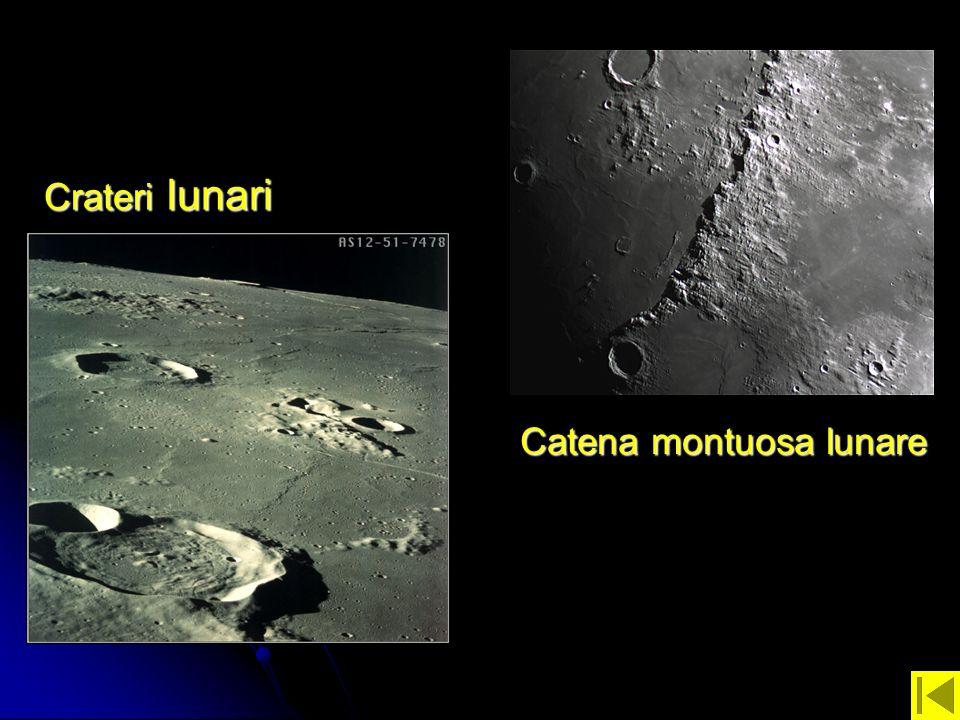 Crateri lunari Catena montuosa lunare