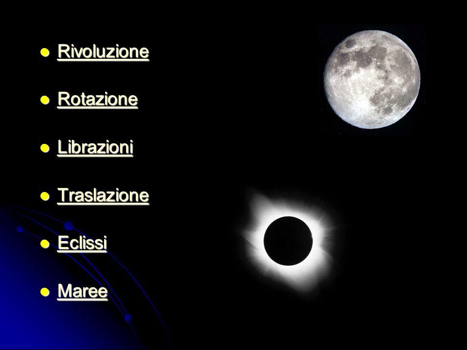 Rivoluzione Rotazione Librazioni Traslazione Eclissi Maree