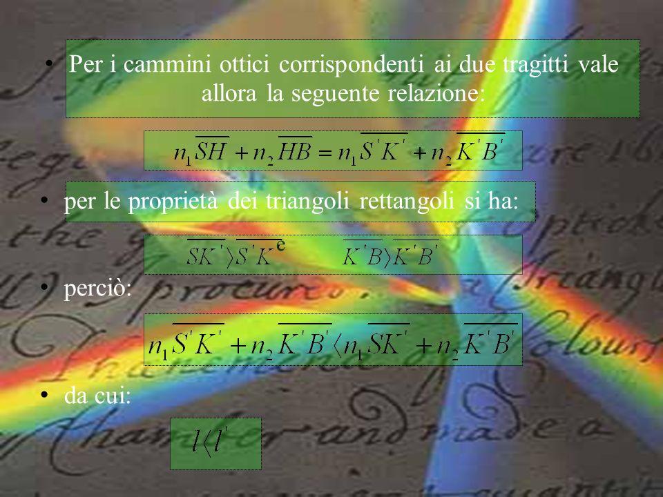 per le proprietà dei triangoli rettangoli si ha: