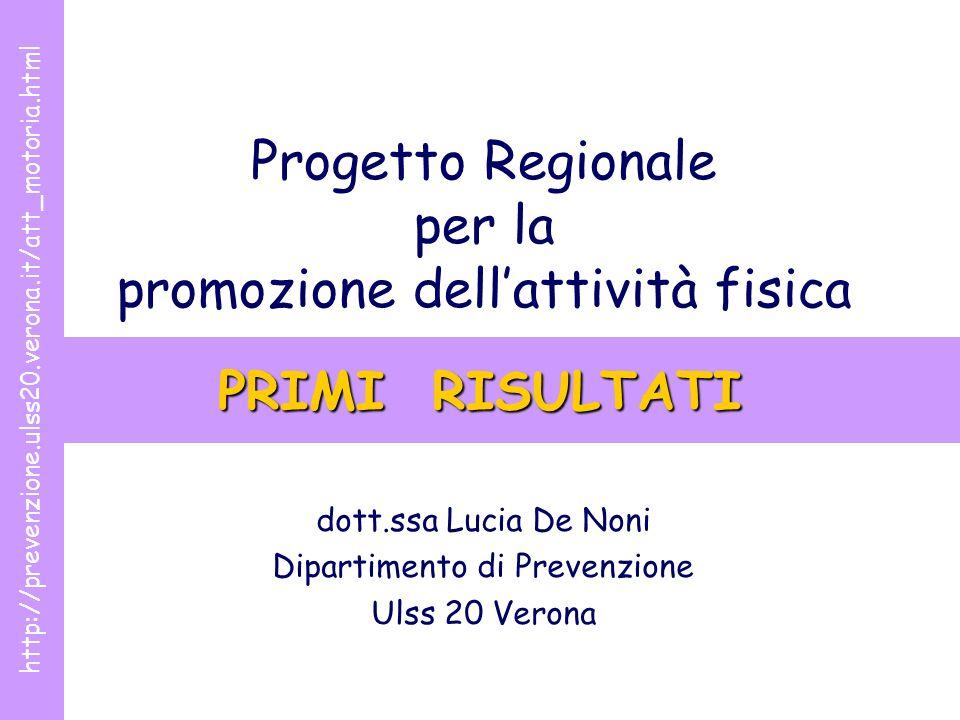 Progetto Regionale per la promozione dell'attività fisica