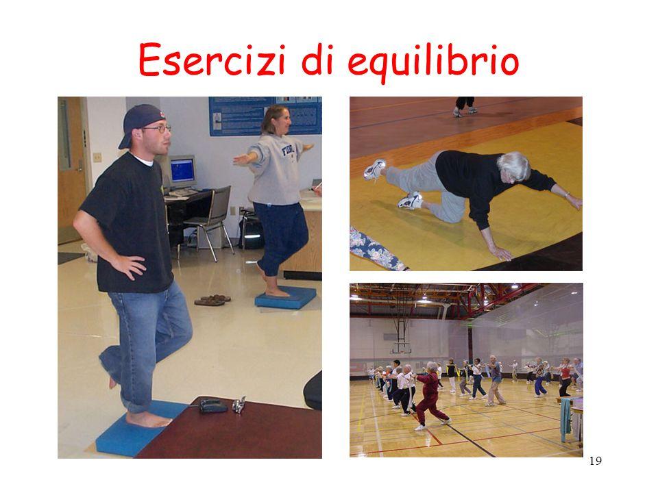 Esercizi di equilibrio