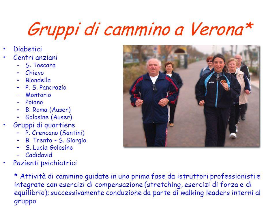 Gruppi di cammino a Verona*