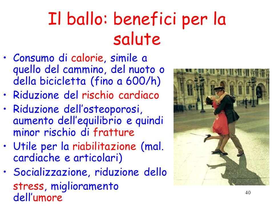 Il ballo: benefici per la salute