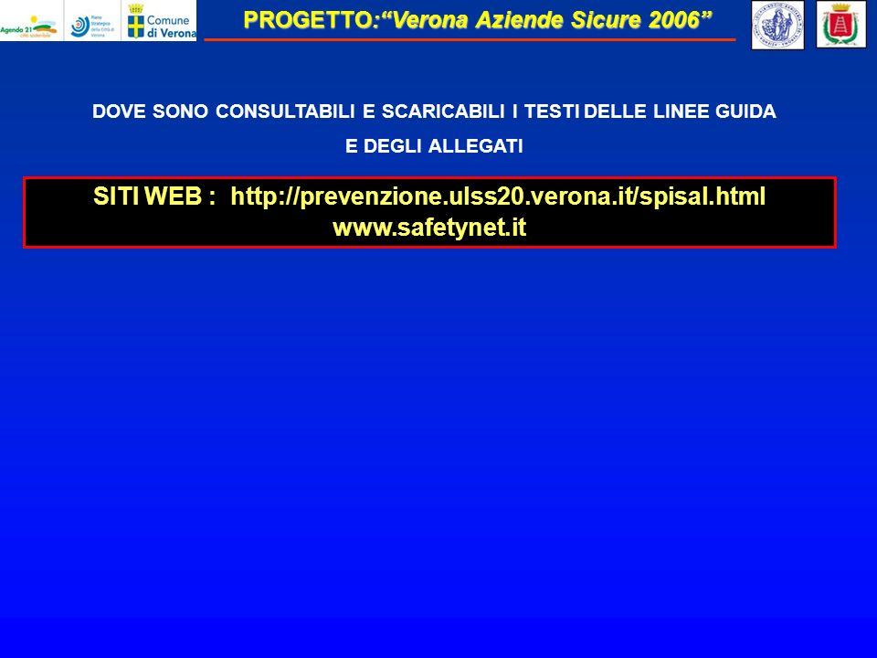 SITI WEB : http://prevenzione.ulss20.verona.it/spisal.html