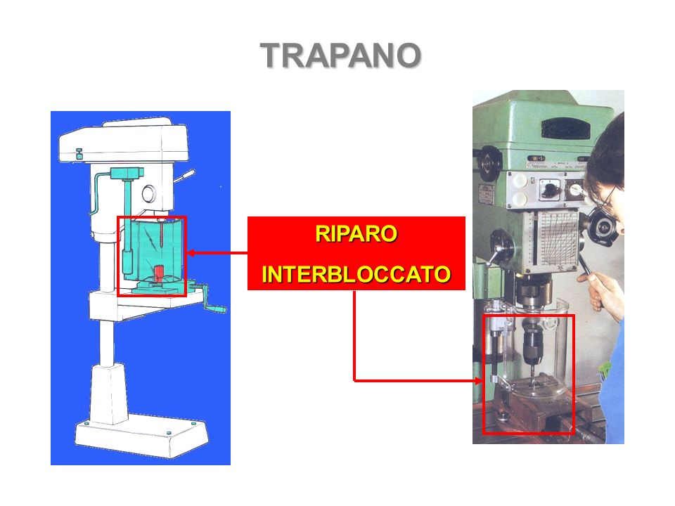 TRAPANO RIPARO INTERBLOCCATO