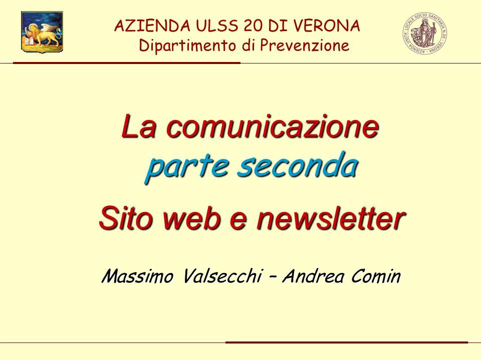 La comunicazione parte seconda Sito web e newsletter