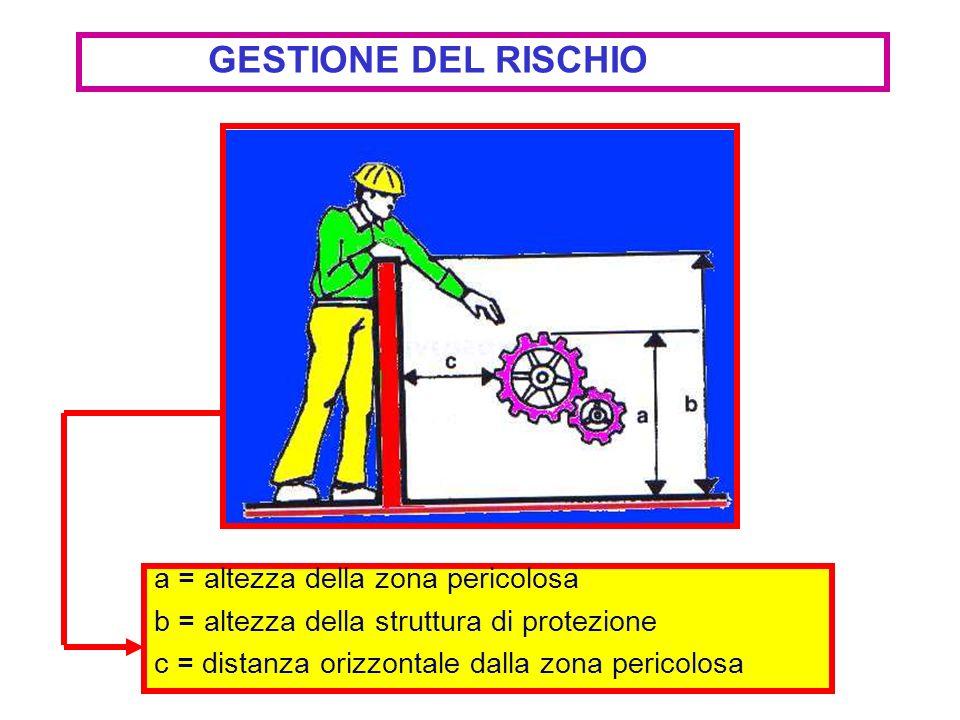 GESTIONE DEL RISCHIO a = altezza della zona pericolosa