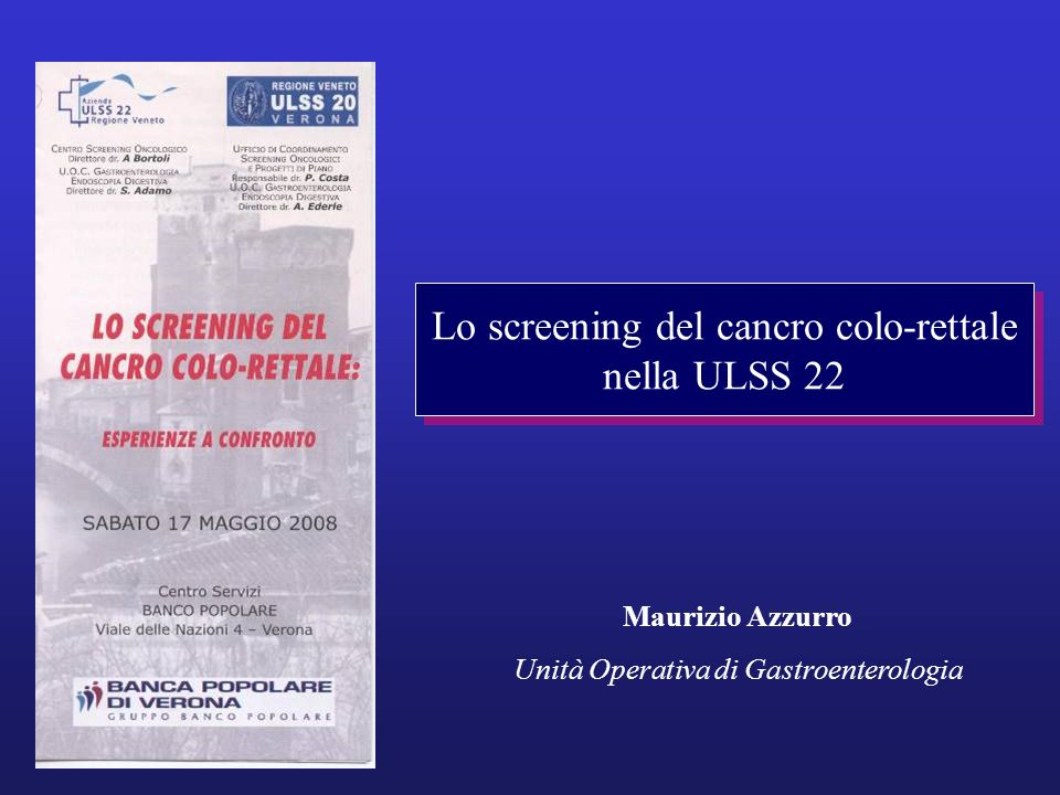 Lo screening del cancro colo-rettale nella ULSS 22