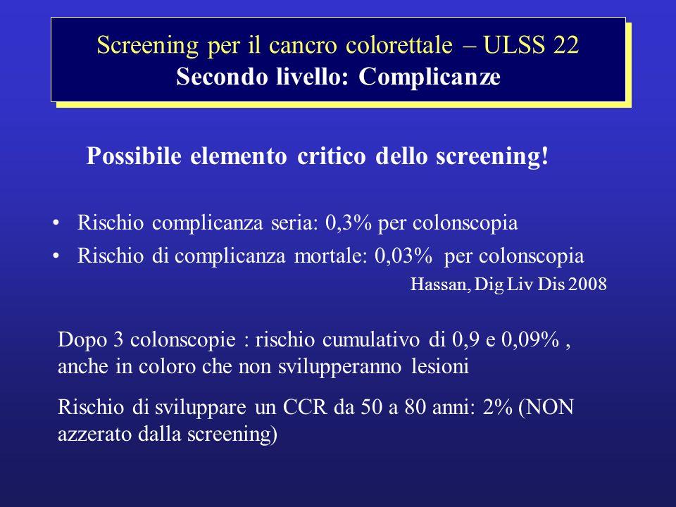 Possibile elemento critico dello screening!