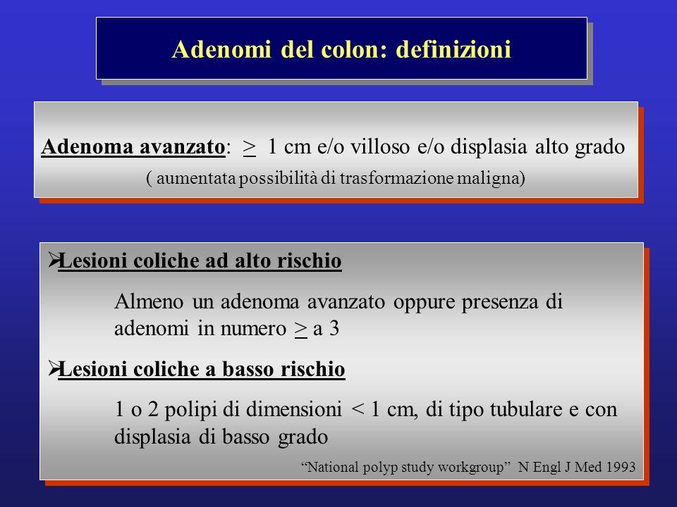 Adenomi del colon: definizioni
