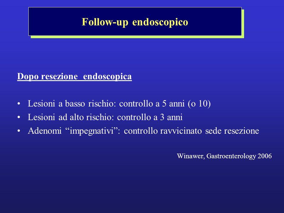 Follow-up endoscopico