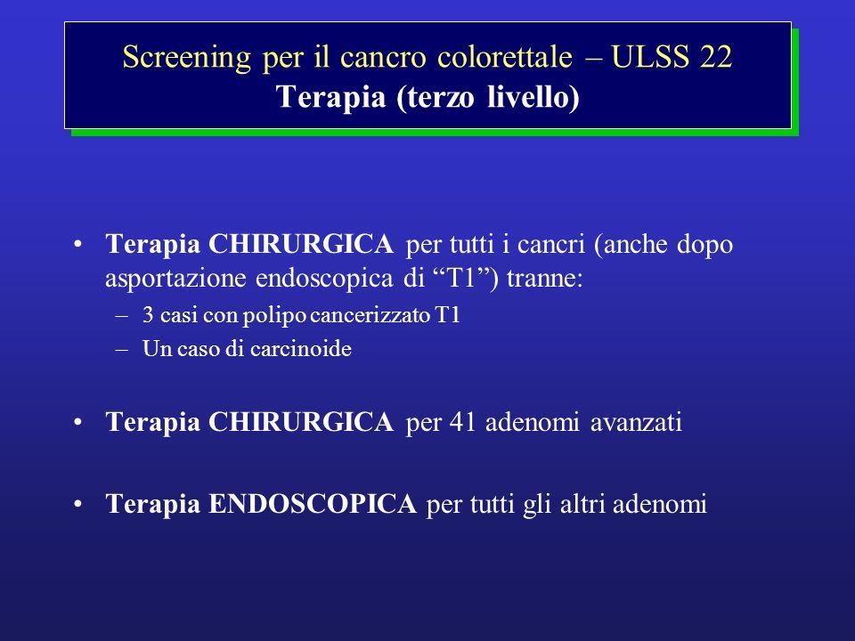 Screening per il cancro colorettale – ULSS 22 Terapia (terzo livello)