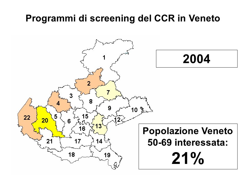 2004 Programmi di screening del CCR in Veneto
