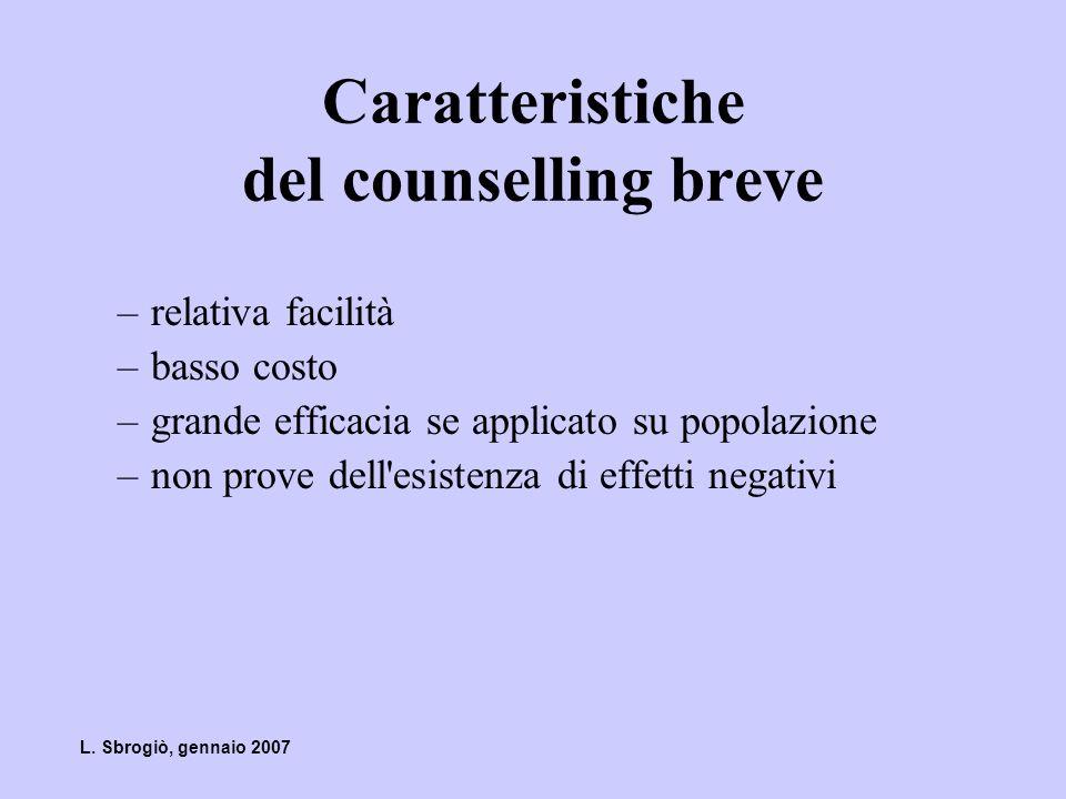 Caratteristiche del counselling breve